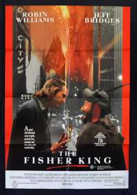 The Fisher King 1991 RARE One Sheet movie poster Robin Williams Jeff Bridges Terry Gilliam