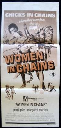 Women In Chains Poster Pam Grier Australian Daybill Movie poster