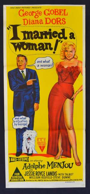 I Married A Woman Poster Original Daybill 1958 Diana Dors George Gobel