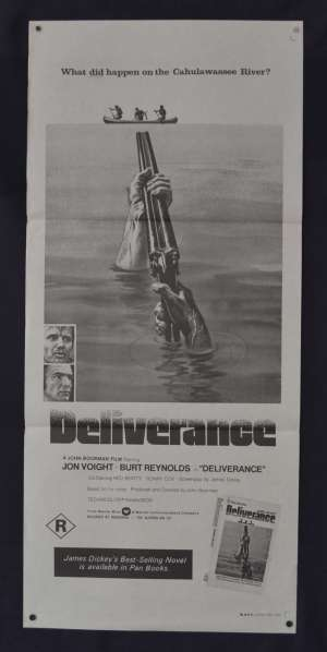 Deliverance Movie Poster Original Daybill 1970s Re-Issue Burt Reynolds Jon Voight