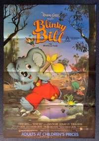 Blinky Bill Poster Original One Sheet 1992 The Mischievous Koala Animation