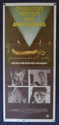 The Awakening Movie Poster Original Daybill 1980 Charleton Heston Horror