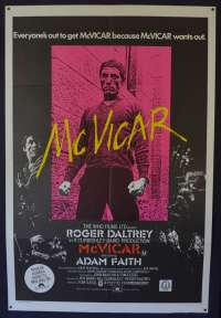 McVicar 1980 One Sheet movie poster Gangster Roger Daltrey The Who