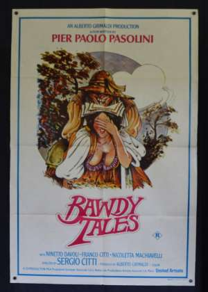 Bawdy Tales Poster Original One Sheet 1974 Aka Storie Scellerate Sexploitation