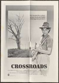 Crossroads 1986 Rare Mini Daybill Movie Poster Ralph Macchio Ry Cooder