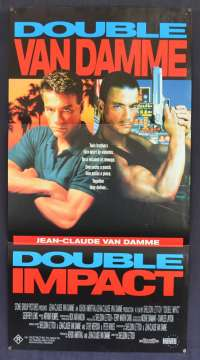 Double Impact 1991 movie poster Daybill Jean Claude Van Damme Bolo Yeung Martial Arts