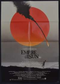 Empire Of The Sun Movie Poster Original One Sheet Christian Bale John Malkovich