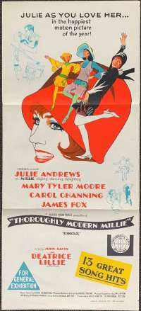 Thoroughly Modern Millie 1967 Daybill movie poster Julie Andrews Mary Tyler Moore