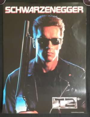 Terminator 2 Judgment Day mini promo movie poster Schwarzenegger