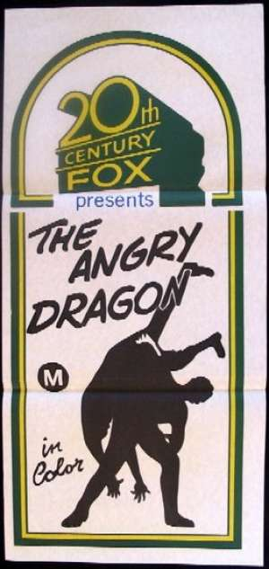 The Angry Dragon Movie Poster original Daybill 1973 Kung Fu Martial Arts Alternate Art