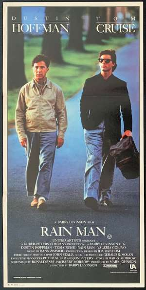 Rain Man Poster Original Daybill 1988 Tom Cruise Dustin Hoffman Barry Levinson