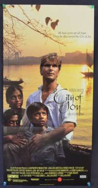 City Of Joy 1992 Daybill movie poster Patrick Swayze Pauline Collins