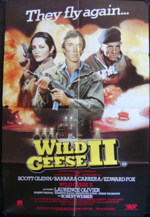 Wild Geese 2 Movie Poster Original One Sheet 1985 Scott Glenn Edward Fox