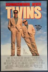 Twins Poster Original USA One Sheet Rolled 1988 Arnold Schwarzenegger DeVito