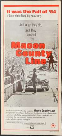 Macon County Line Movie Poster Original Daybill Alan Vint Cheryl Waters Max Baer Jnr