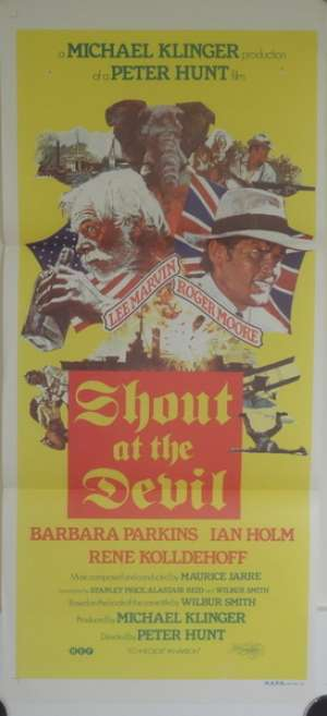 Shout At The Devil Roger Moore Lee Marvin Daybill movie poster
