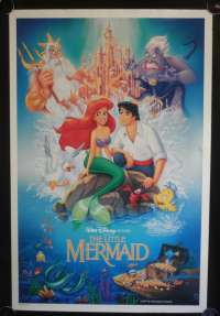 The Little Mermaid Original USA rolled one sheet movie poster