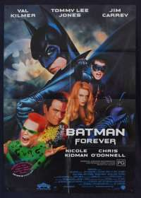 Batman Forever Poster Original One Sheet 1995 Val Kilmer Superhero