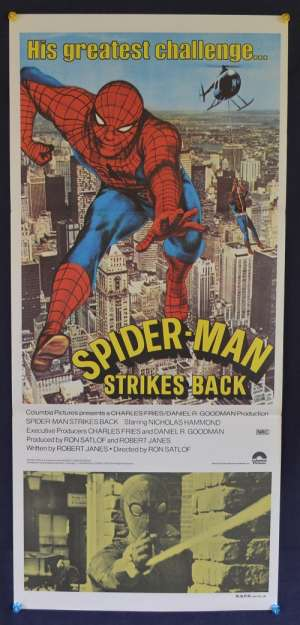 Spiderman Strikes Back Poster Original Daybill 1978 Nicholas Hammond