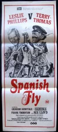 Spanish Fly 1975 Daybill movie poster Terry Thomas Leslie Phillips