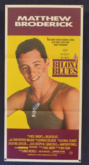 Biloxi Blues Poster Original Daybill 1988 Matthew Broderick Christopher Walken