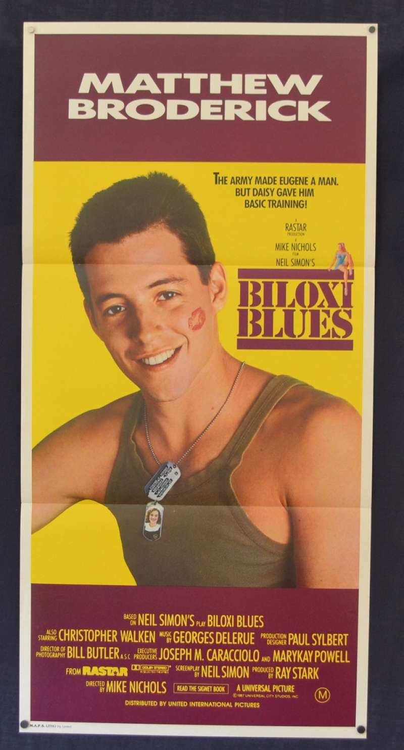All About Movies Biloxi Blues Poster Original Daybill 1988