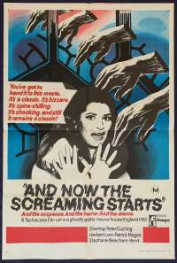 And Now The Screaming Starts One Sheet Australian Movie poster