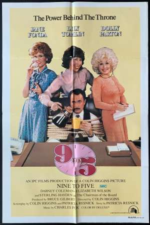 Nine To Five 9 to 5 Poster Original One Sheet 1980 Dolly Parton Jane Fonda