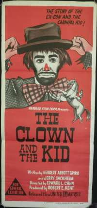 The Clown And The Kid Poster Original Daybill