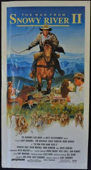 The Man From Snowy River 2 Poster Original Daybill 1988 Tom Burlinson