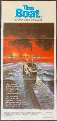 The Boat aka Das Boot movie poster Daybill Wolfgang Petersen