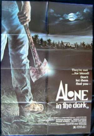 Alone In The Dark Movie Poster Original One Sheet Axe Artwork Slasher Jack Palance