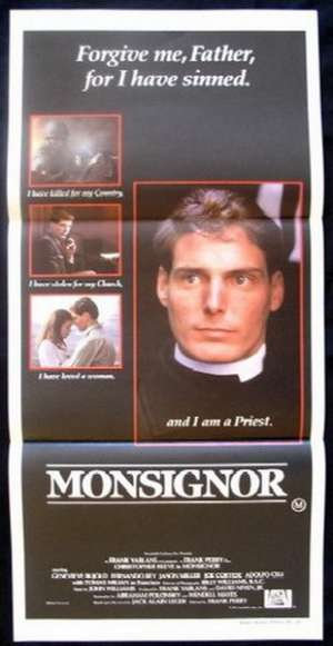 Monsignor Daybill Movie poster Christopher Reeve Rare artwork.