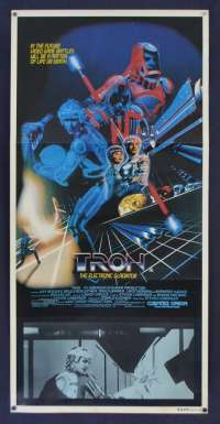 Tron (1982) Jeff Bridges Original Daybill movie poster