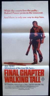 Final Chapter Walking Tall Daybill Movie poster