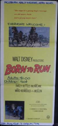 Born To Run 1977 Daybill movie poster Horse racing Trotting