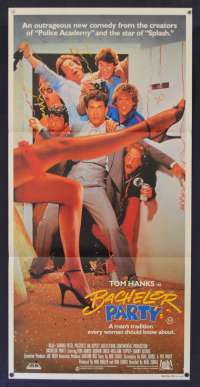 Bachelor Party Movie Poster Original Daybill 1984 Tom Hanks Bucks Party