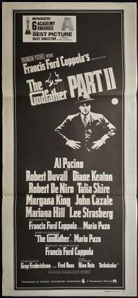 The Godfather Part 2 Poster Original Daybill 1974 Al Pacino Robert De Niro Gangsters