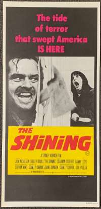 The Shining 1980 Daybill movie poster Jack Nicholson Stanley Kubrick
