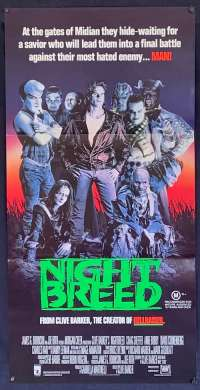 Nightbreed Movie Poster Daybill Clive Barker David Cronenberg Craig Sheffer