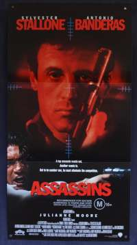 Assassins Movie Poster Original Daybill 1995 Sylvester Stallone Antonio Banderas
