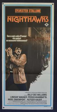 Nighthawks Poster Daybill Sylvester Stallone Rutger Hauer Billy Dee Williams