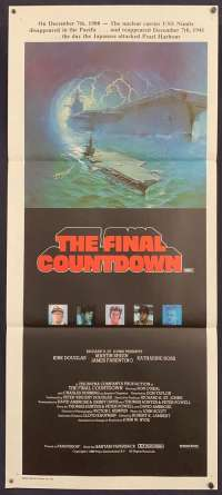 The Final Countdown Movie Poster Original Daybill 1980 Cast Artwork