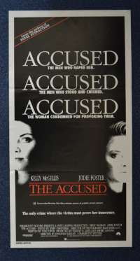 The Accused movie poster Daybill Jodie Foster Kelly McGillis