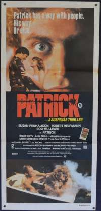 Patrick movie poster Daybill Robert Helpmann