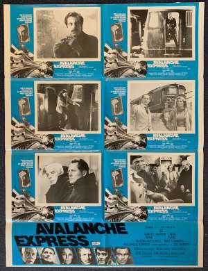 Avalanche Express Poster Original Photosheet 1979 Robert Shaw Lee Marvin