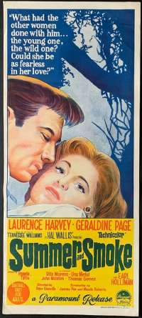 Summer And Smoke Daybill movie poster Lawrence Harvey Geraldine Page