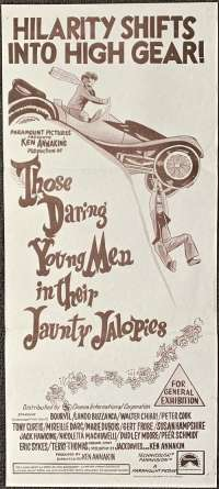 Those Daring Young Men In Their Jaunty Jalopies Poster Original Daybill 1969 Comedy