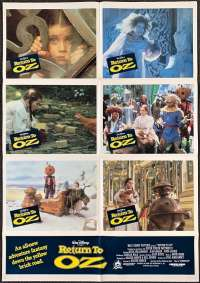 Return To Oz Poster Original Lobby Photosheet 1985 Nicol Williamson Piper Laurie