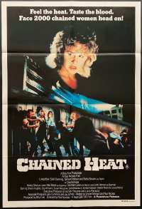 Chained Heat Movie Poster Original One Sheet 1983 Linda Blair Prison